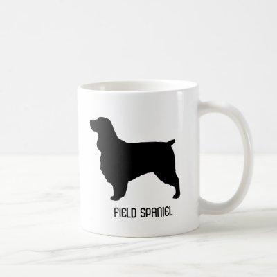 Field Spaniel Dog Breed Silhouettes Custom Coffee Mug