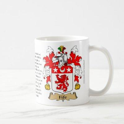Fife, the Origin, the Meaning and the Crest Coffee Mug
