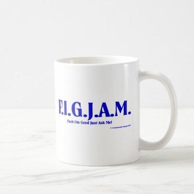 FIGJAM - BLUE COFFEE MUG