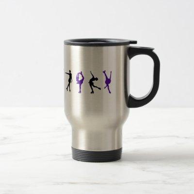 Figure Skaters - Purple & Black Travel Mug