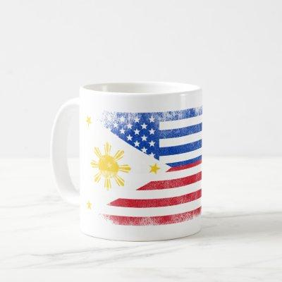 Filipino American Flag   Philippines and USA Coffee Mug