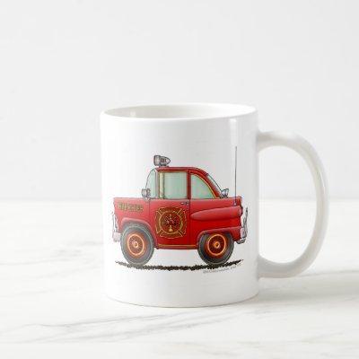 Fire Chief Car Firefighter Fireman Coffee Mug