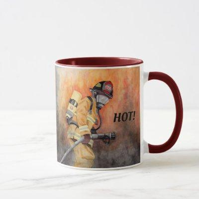 Firefighter Coffee Cup Personalize Words