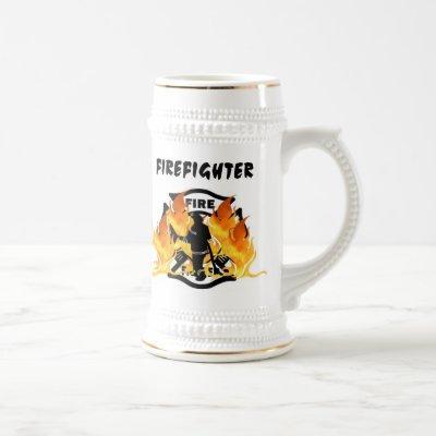 Firefighter Fire Dept Pride Beer Stein