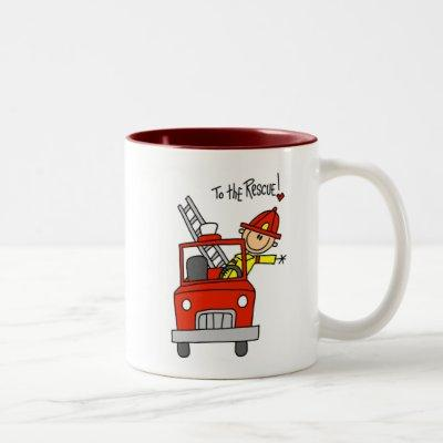 Firefighter to the Rescue T-shirts and Gifts Two-Tone Coffee Mug