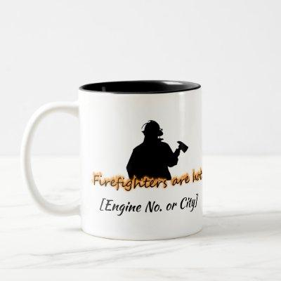 Firefighters Are Hot Two-Tone Coffee Mug