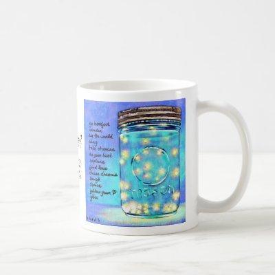 Fireflies in Jar Mug ~ Double Sided Version!