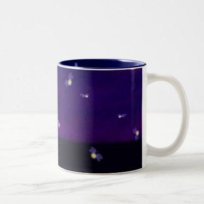 Fireflies Two-Tone Coffee Mug