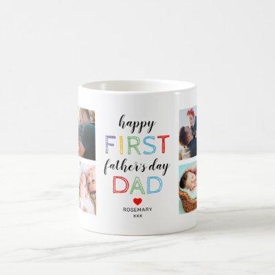 First Father's Day Photo Coffee Mug