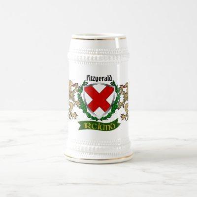 Fitzgerald Irish Shield Beer Stein