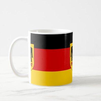 Flag of Germany - Bundesdienstflagge Coffee Mug