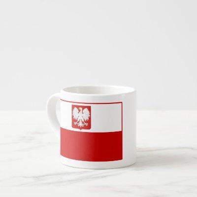 Flag of Poland Coat of Arms Espresso Mugs