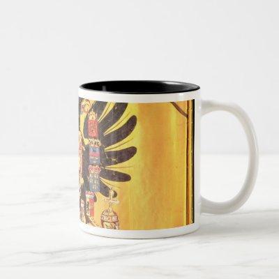 Flag of the Imperial Habsburg Dynasty, c.1700 Two-Tone Coffee Mug