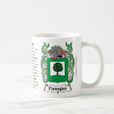 Flanagan, Origin, Meaning and the Crest Coffee Mug
