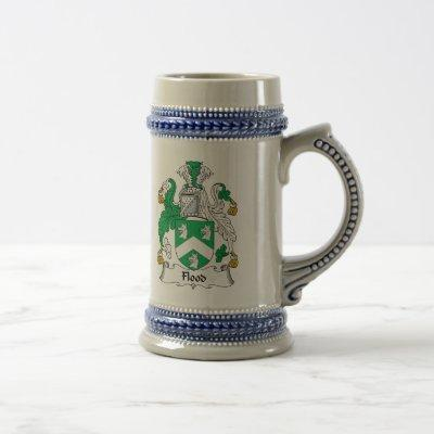 Flood Family Crest Beer Stein