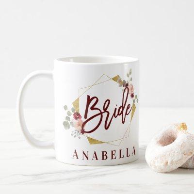 floral bride bachelorette bridal shower mug