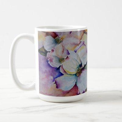 Floral Watercolor Art Large Mug