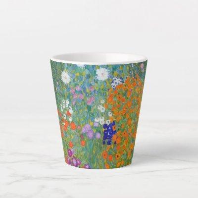 Flower Garden Landscape Gustav Klimt Latte Mug