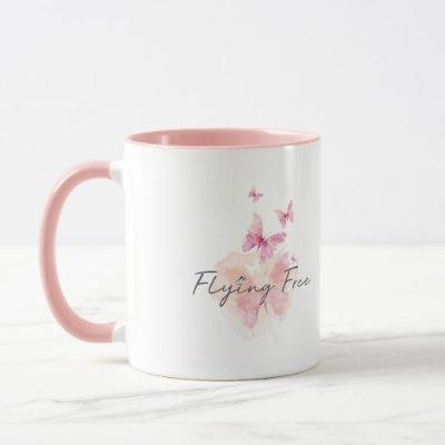 Flying Free 11 oz. Pink Coffee Mug