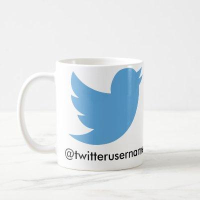 Follow Me On Twitter (Customizable Username) Coffee Mug