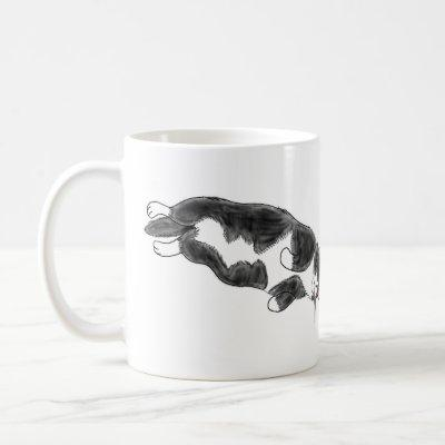 FooFooCat: Lazy Jumbo Tuxedo Cat Coffee Mug