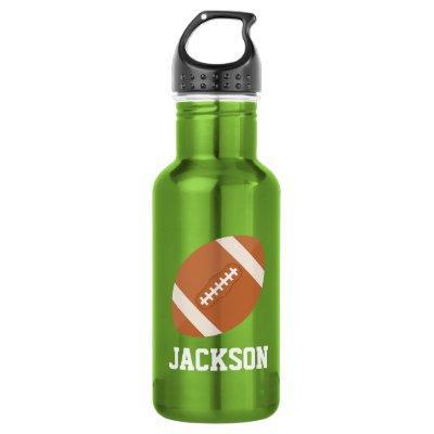 Football Custom Kids Stainless Steel Water Bottle