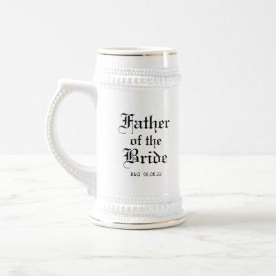 Formal Father of the Bride Beer Stein