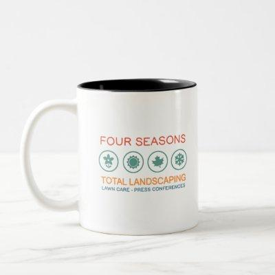 Four seasons - press conferences Two-Tone coffee mug