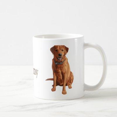Fox Red Yellow Labrador Retriever Dog Coffee Mug