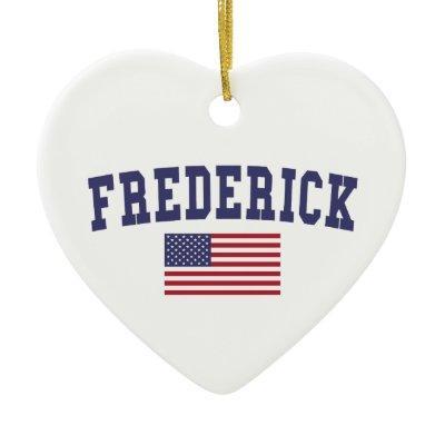 Frederick US Flag Ceramic Ornament