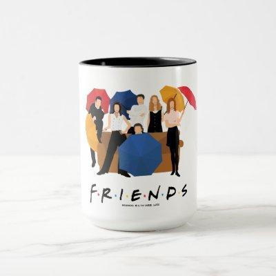 FRIENDS™ Character Silhouette Mug