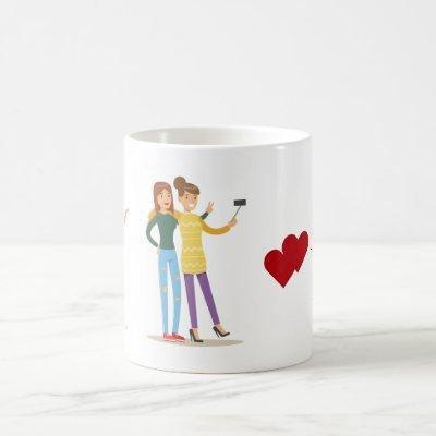 Friends Emerson Quote BFF Hearts Girls Cute Photo Coffee Mug