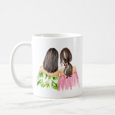 Friends Forever Gift Mug Black hair and Brunette