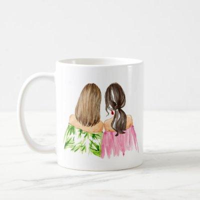 Friends Forever Mug Light Brunette Dark Brunette