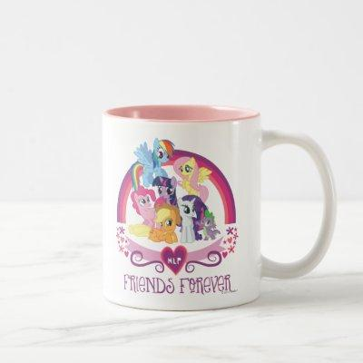 Friends Forever Two-Tone Coffee Mug