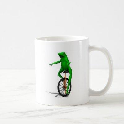 Frog on Unicycle Meme Coffee Mug