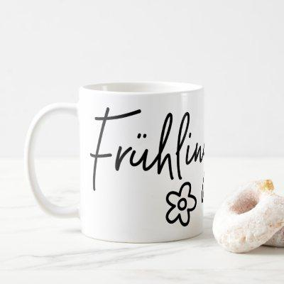 Frühlingsgefühle, German Word, Spring Fever Coffee Mug