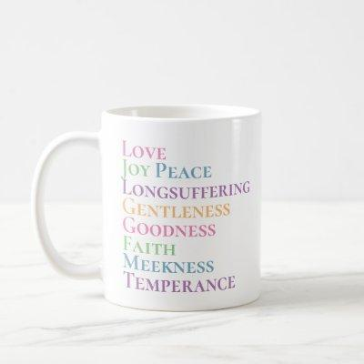 fruit of the Spirit List Pastel Multi - Color Coffee Mug