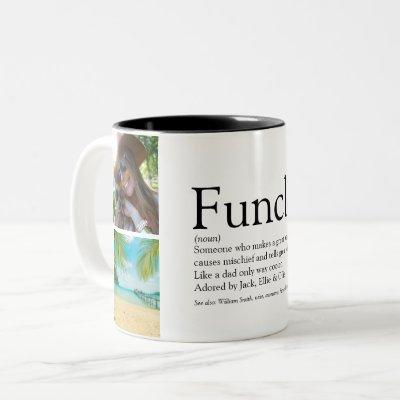 Funcle, Uncle Definition 4 Photo Collage Two-Tone Coffee Mug