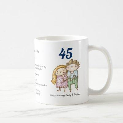 FUNNY 45th Wedding Anniversary Sapphire Customized Coffee Mug