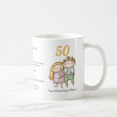 FUNNY 50th Wedding Anniversary Personalized Coffee Mug