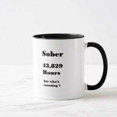 funny 5th anniversary sobriety mug. mug