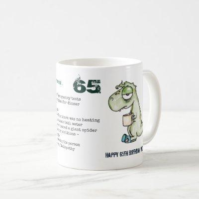 Funny 65th Personalized 'When I was Your Age' Dino Coffee Mug