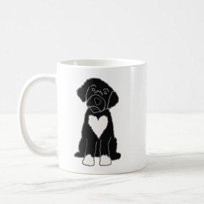Funny Black Portuguese Water Dog Coffee Mug