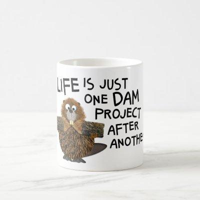 Funny Busy Beaver for Him or Her Gift Tea or Coffee Mug