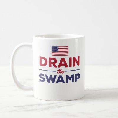 Funny Coffee Mug Gift - Drain The Swamp - Flag