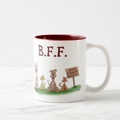 Funny Coffee Mugs: Best Friends Forever Two-Tone Coffee Mug