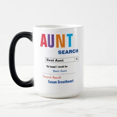 Funny Custom Best Aunt Gift Magic Mug
