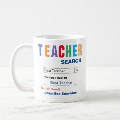 Funny Custom Best Teacher Gift Coffee Mug