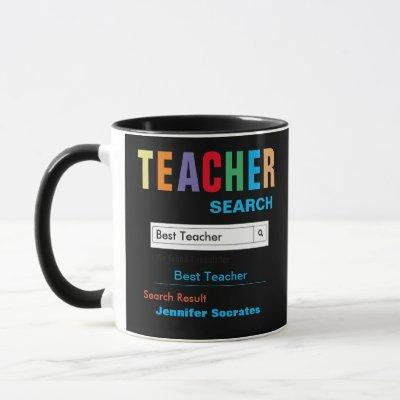 Funny Custom Best Teacher Gift Mug
